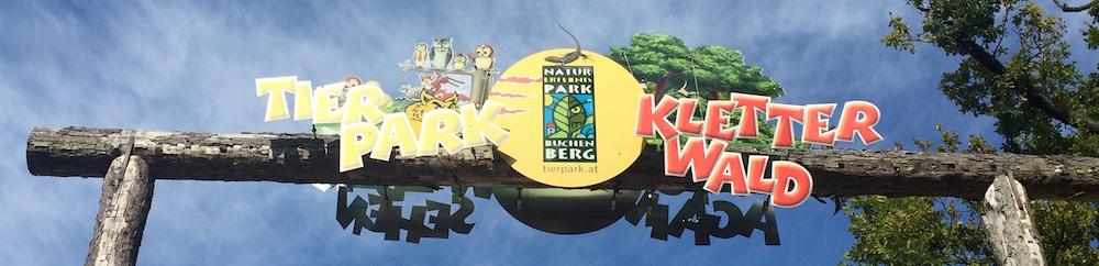 Schild mit Logo vom Kletterwald