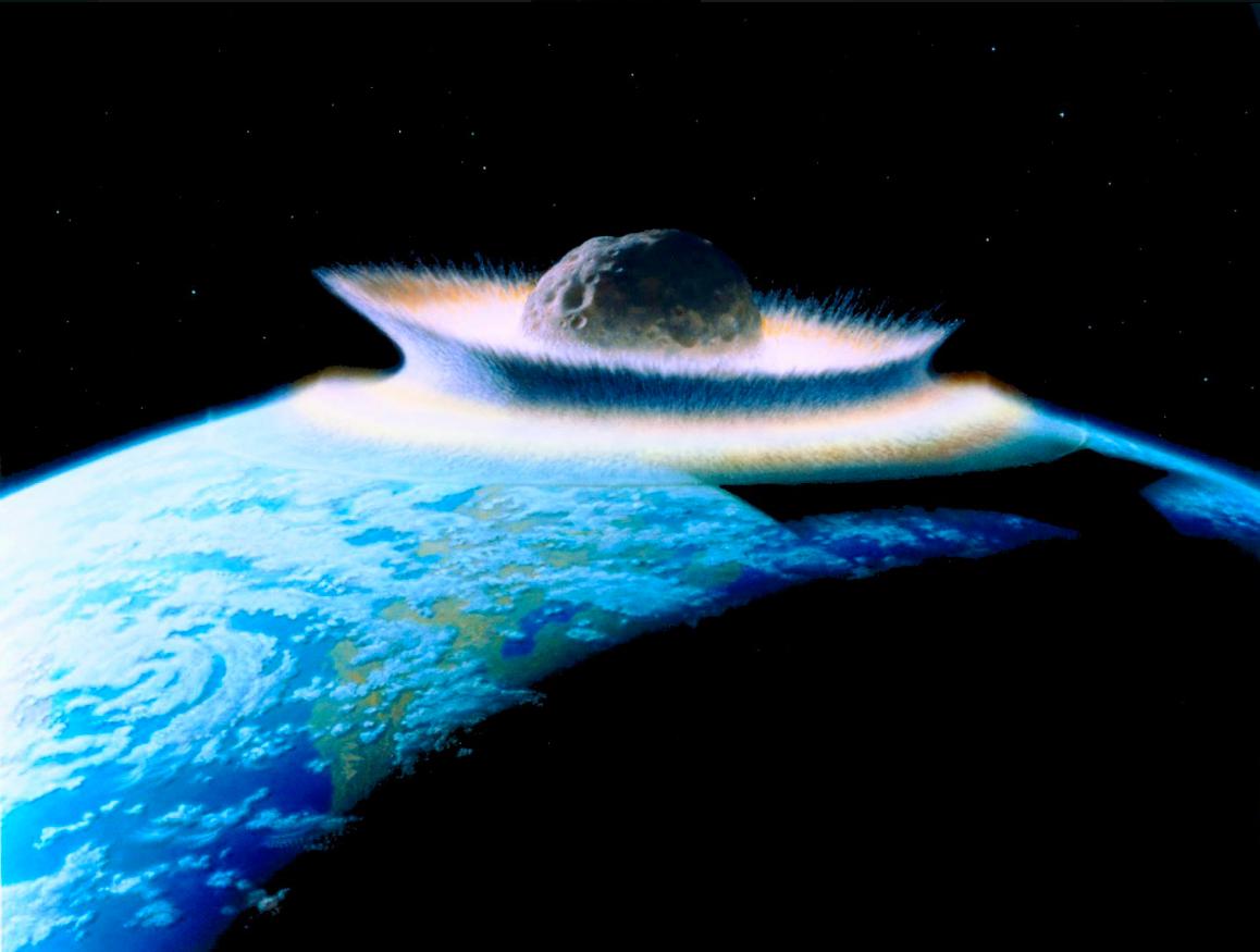 Illustration eines Asteroideneinschlages auf der Erde © Don Davis