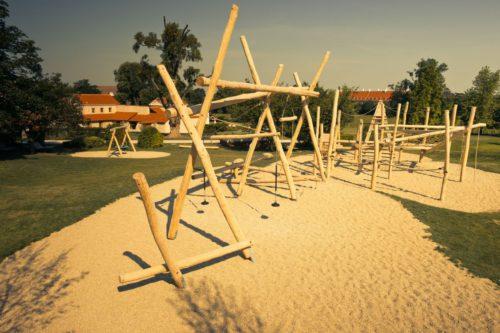 Römischer Holzspielplatz
