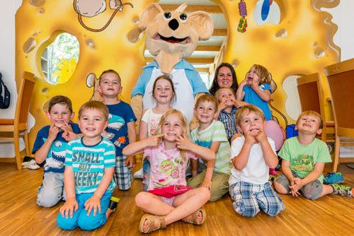 Kinderparadies mit unserem Maskottchen Cheesy!