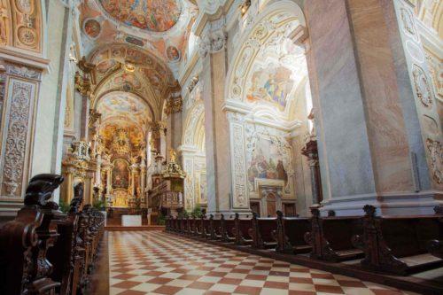 barockisierte Stiftskirche Innenansicht
