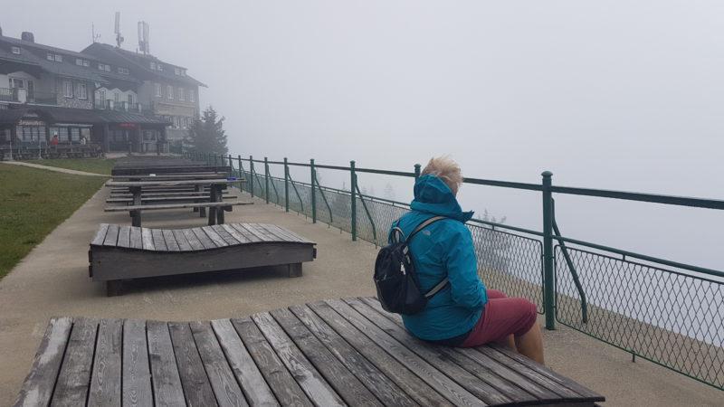 Bergstation Rax im Nebel