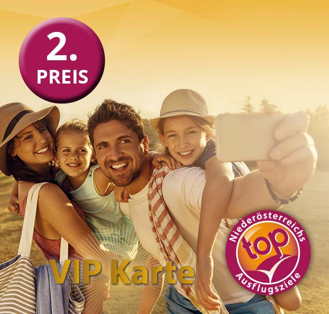 Gewinnspiel 2020 zweiter Preis VIP Karten Top Ausflugsziele NÖ