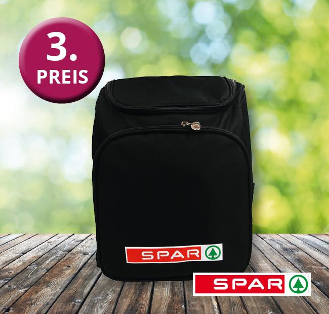 Gewinnspiel 2020 dritter Preis Picknick-Rucksack von SPAR