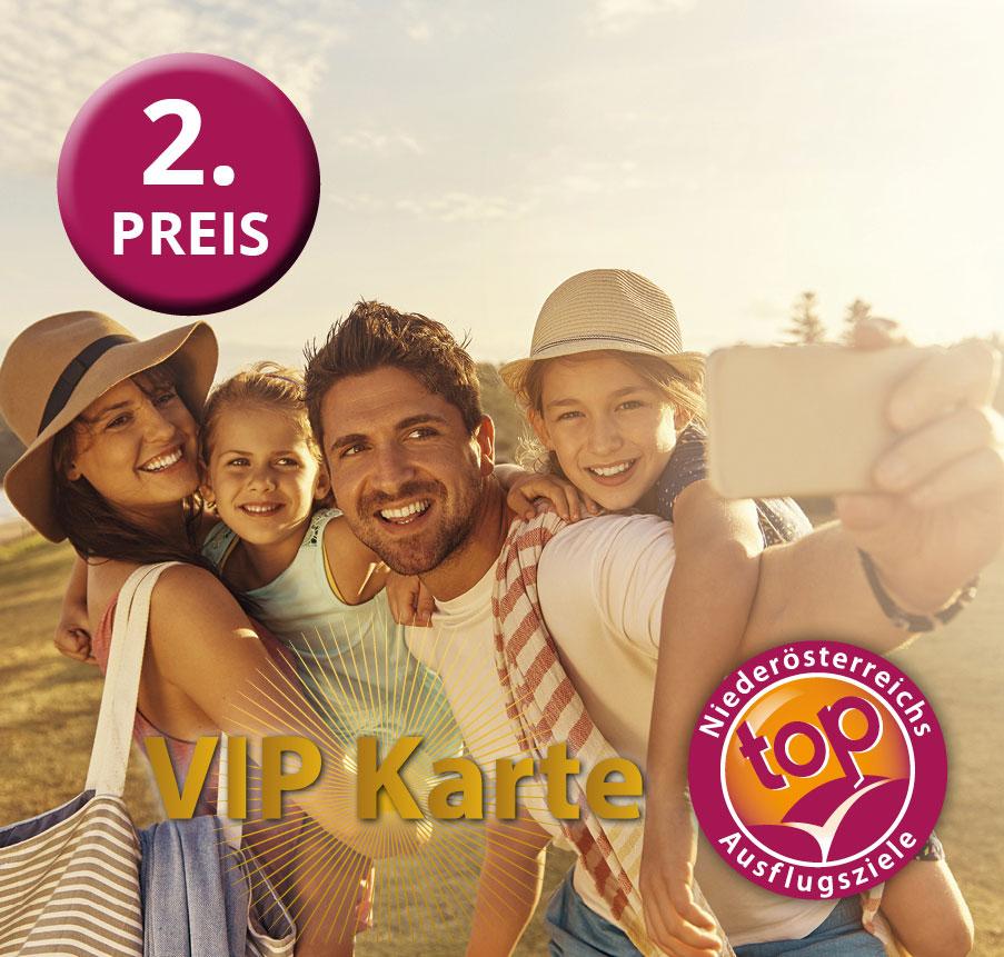 zweiter Preis vom Gewinnspiel – VIP Karten der Top Ausflugsziele NÖ